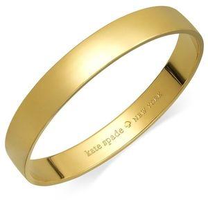 Kate spade Bracelet, 12k Gold-Plated idiom Bangle
